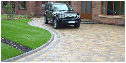 New Block Paving driveway using Marshalls Drivesett Duo block paving in Culcheth