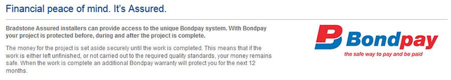 Financial peace of mind with Bondpay