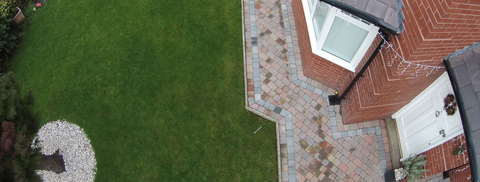 New path using woburn rumbled block paving