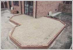 build brickwork up to damp coarse level
