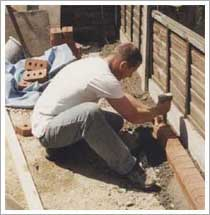 fixing the edging to hold the block paving in place