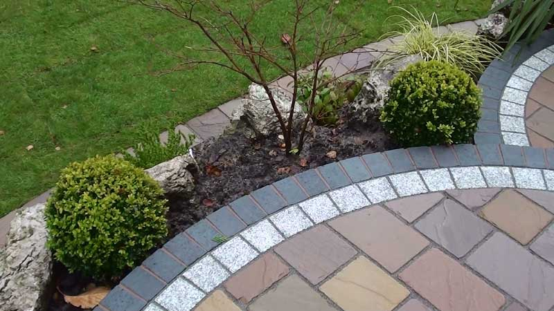 The Fairstone driveway setts completed and pointed using Marshalls Weatherpoint 365