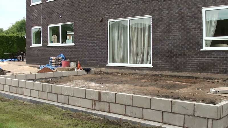 The foundation block work to the new extension is now completed