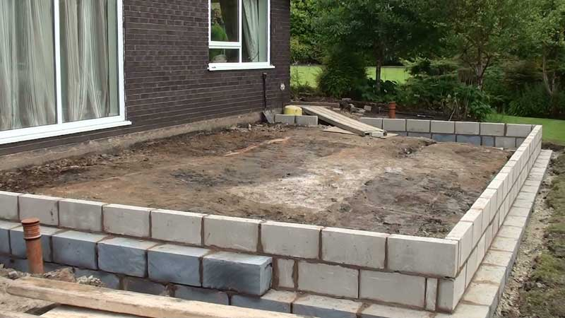 Foundation block work now completed