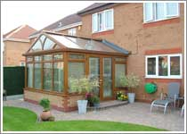Light Oak Gable Ended Conservatory in Westhoughton