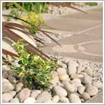 Decorative pebbles and cobbles