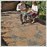 herritage calder brown patio paving flags
