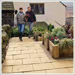 Laylock Abbey patio paving flags