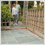 natural stone garden patio paving