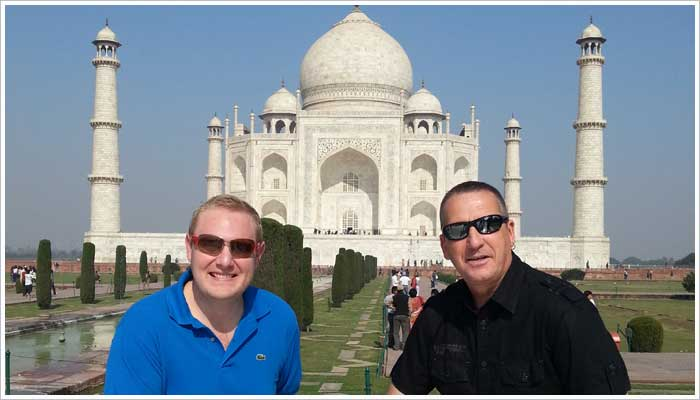 Mr Chis and myself with the Taj Mahal in the background