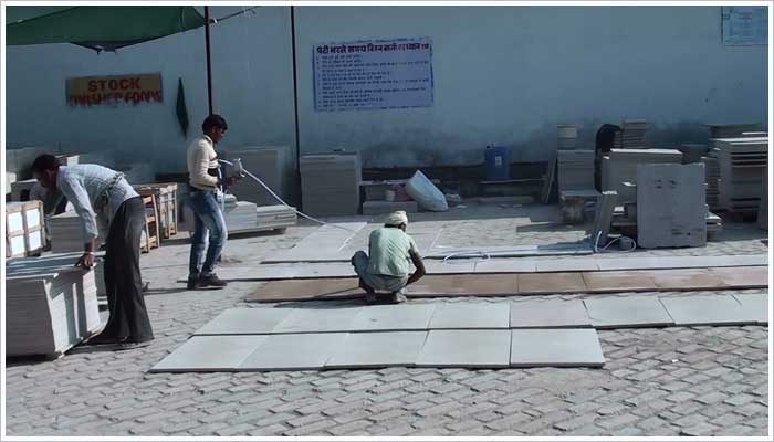 Sorting the fairstone paving