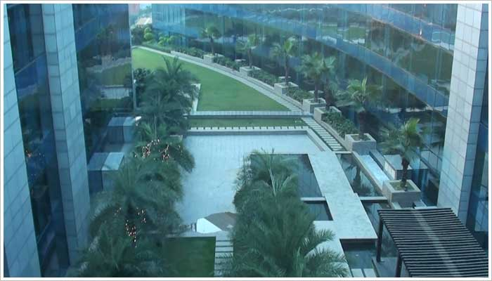 The Leela Ambience Gurgaon 5 Star Hotel-View from my floor