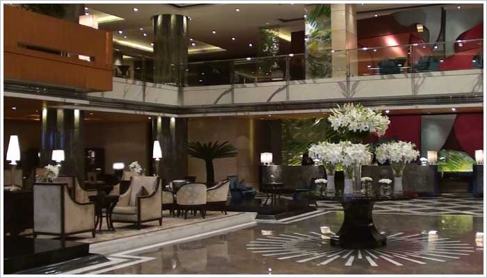 The Leela Ambience Gurgaon 5 Star Hotel entrance and reception