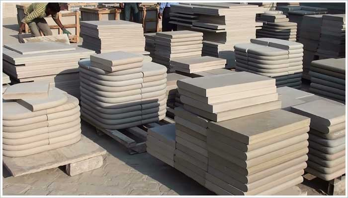 Fairstone sawn step units, the ultimate in Marshalls Fairstone range of sawn sandstone paving, most of these step units are shaped and finished by hand