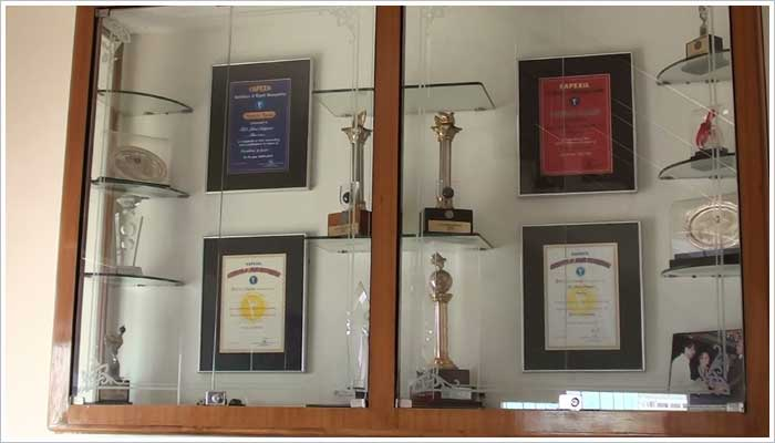 Stoneshippers are proud to have received many awards over the years for their excellent work within the stone industry in Rajasthan.