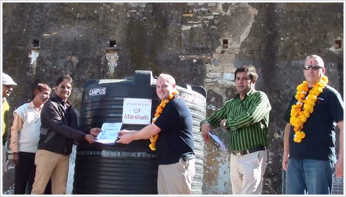 Marshalls donate a much needed water storage tank to the local school