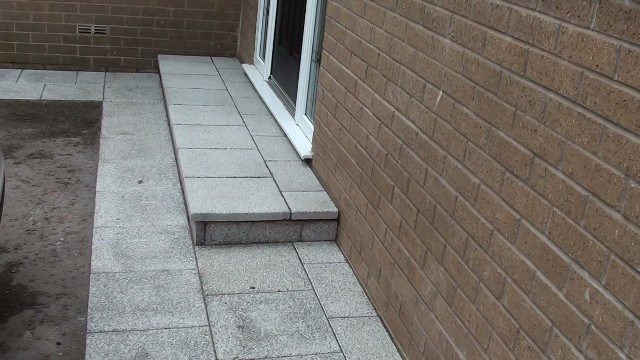 Marshalls Argent Smooth Patio Paving In Leigh Manchester