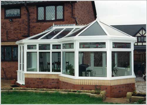 Front View of a uPVC P Shape Conservatory in Manchester