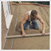 screed the zone 2 git sand prior to laying the block paving