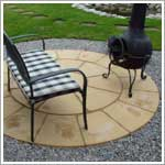 Buff Circle Patio in Westhoughton